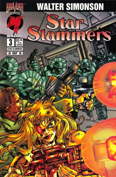 Cover for Star Slammers (Malibu, 1994 series) #3