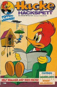 Cover Thumbnail for Hacke Hackspett (Semic, 1971 series) #7/1981
