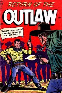 Cover for Return of the Outlaw (Toby, 1953 series) #4