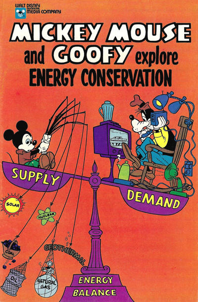 Cover for Mickey Mouse and Goofy Explore Energy Conservation (Disney, 1978 series)