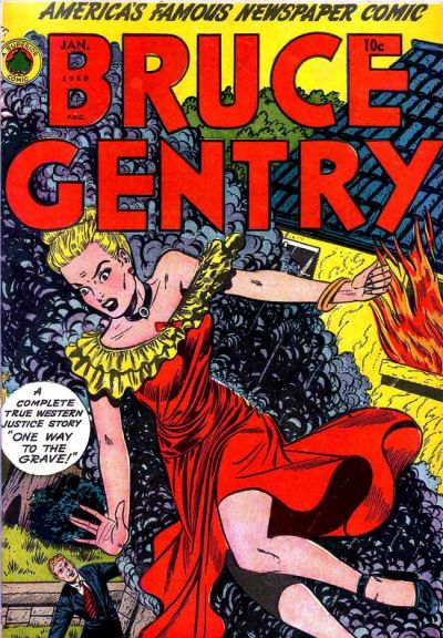 Cover for Bruce Gentry Comics (Superior, 1948 series) #3 [No Date on Cover]
