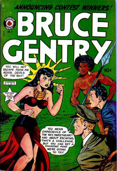Cover for Bruce Gentry Comics (Superior, 1948 series) #7