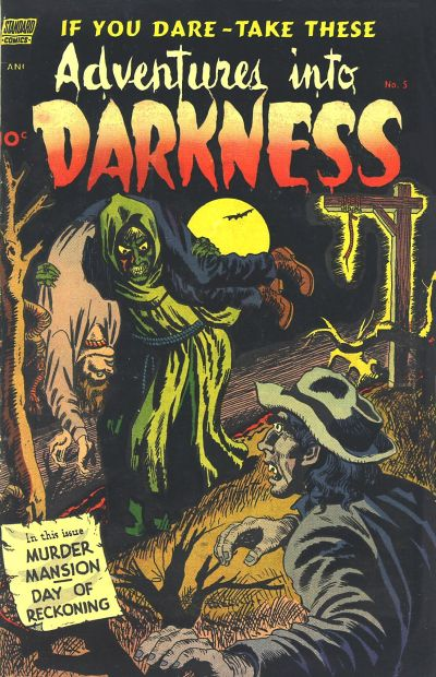 Cover for Adventures into Darkness (Pines, 1952 series) #5