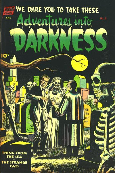 Cover for Adventures into Darkness (Pines, 1952 series) #6
