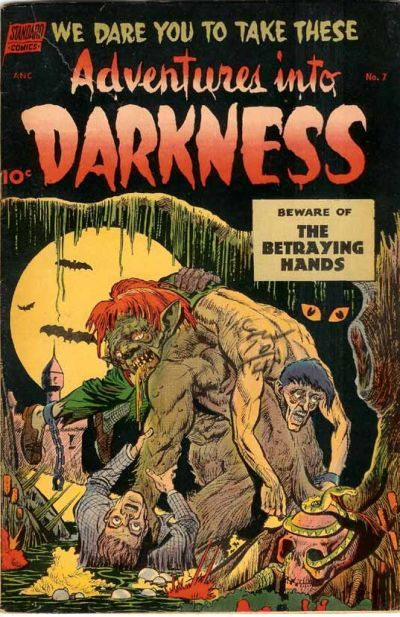 Cover for Adventures into Darkness (Pines, 1952 series) #7