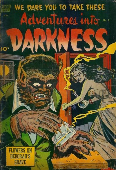 Cover for Adventures into Darkness (Pines, 1952 series) #9