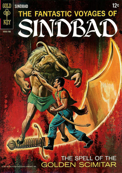 Cover for The Fantastic Voyages of Sindbad (Western, 1965 series) #2