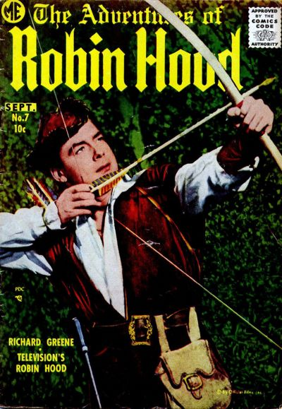 Cover for The Adventures of Robin Hood (Magazine Enterprises, 1957 series) #7