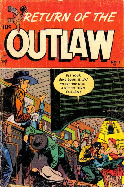 Cover for Return of the Outlaw (Toby, 1953 series) #1