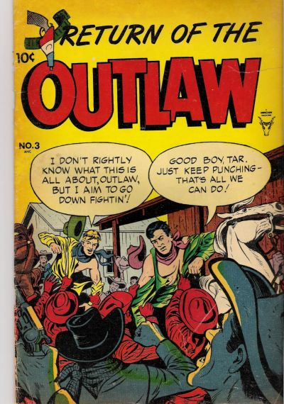 Cover for Return of the Outlaw (Toby, 1953 series) #3