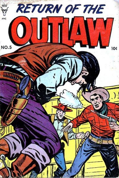 Cover for Return of the Outlaw (Toby, 1953 series) #5