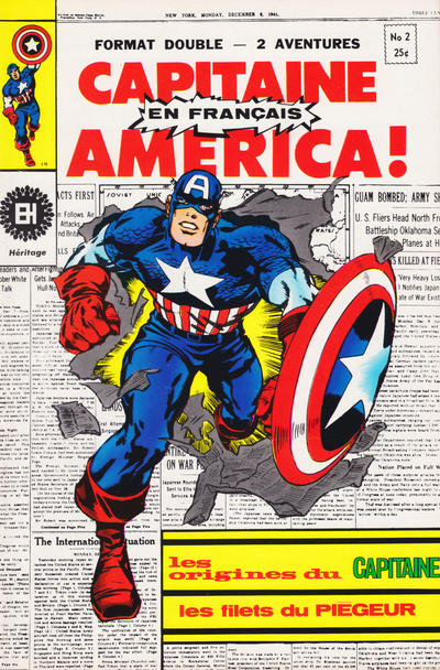 Cover for Capitaine America (Editions Héritage, 1970 series) #2