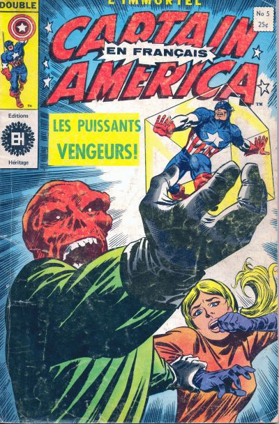Cover for Capitaine America (Editions Héritage, 1970 series) #5
