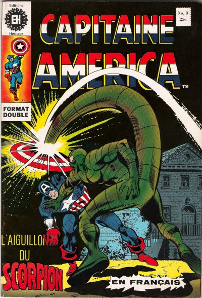 Cover for Capitaine America (Editions Héritage, 1970 series) #8