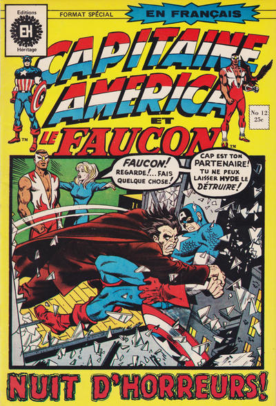 Cover for Capitaine America (Editions Héritage, 1970 series) #12