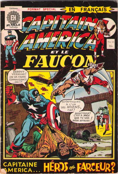 Cover for Capitaine America (Editions Héritage, 1970 series) #13