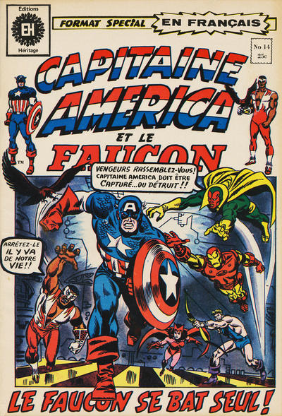 Cover for Capitaine America (Editions Héritage, 1970 series) #14