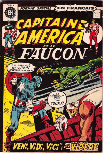 Cover for Capitaine America (Editions Héritage, 1970 series) #17