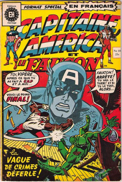 Cover for Capitaine America (Editions Héritage, 1970 series) #18