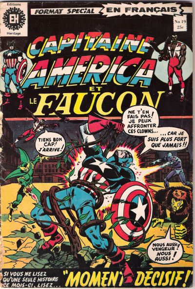 Cover for Capitaine America (Editions Héritage, 1970 series) #19