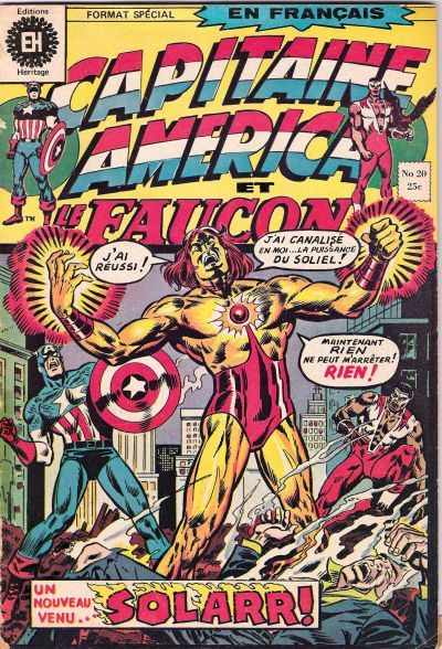 Cover for Capitaine America (Editions Héritage, 1970 series) #20