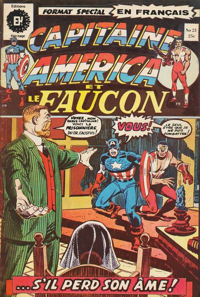 Cover for Capitaine America (Editions Héritage, 1970 series) #21