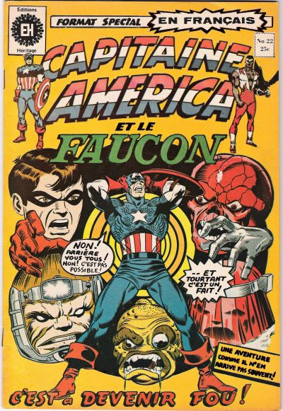 Cover for Capitaine America (Editions Héritage, 1970 series) #22