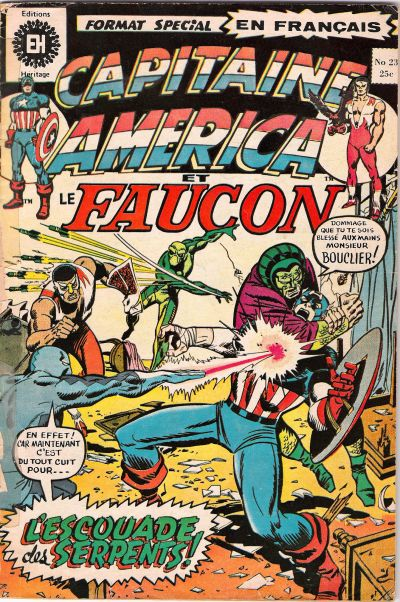 Cover for Capitaine America (Editions Héritage, 1970 series) #23