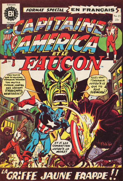 Cover for Capitaine America (Editions Héritage, 1970 series) #25
