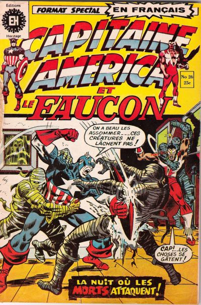 Cover for Capitaine America (Editions Héritage, 1970 series) #26