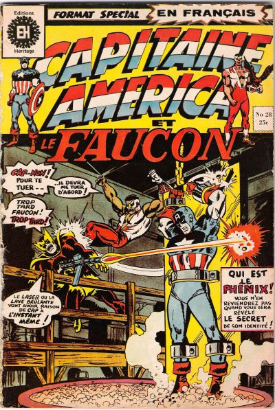 Cover for Capitaine America (Editions Héritage, 1970 series) #28