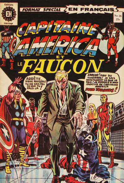 Cover for Capitaine America (Editions Héritage, 1970 series) #36