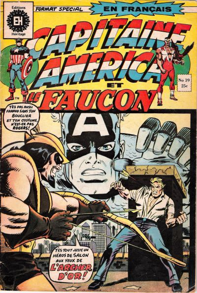 Cover for Capitaine America (Editions Héritage, 1970 series) #39