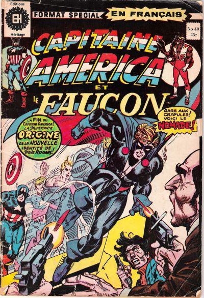 Cover for Capitaine America (Editions Héritage, 1970 series) #40