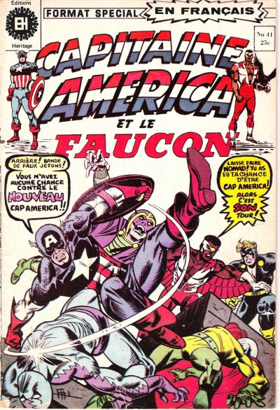 Cover for Capitaine America (Editions Héritage, 1970 series) #41