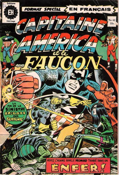 Cover for Capitaine America (Editions Héritage, 1970 series) #42