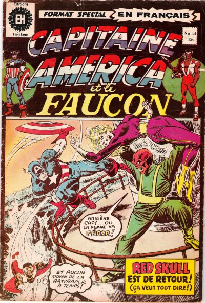 Cover for Capitaine America (Editions Héritage, 1970 series) #44