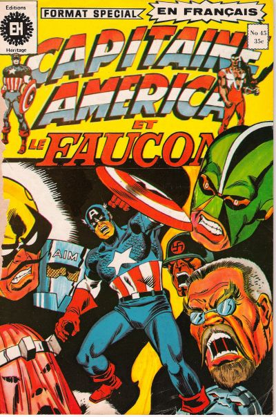 Cover for Capitaine America (Editions Héritage, 1970 series) #45