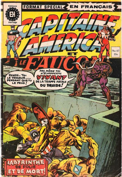 Cover for Capitaine America (Editions Héritage, 1970 series) #47