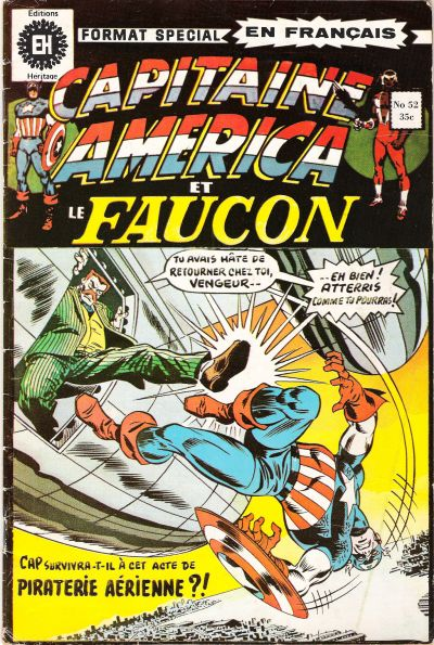 Cover for Capitaine America (Editions Héritage, 1970 series) #52