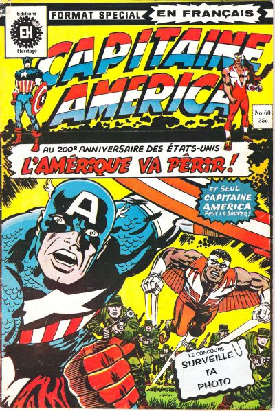 Cover for Capitaine America (Editions Héritage, 1970 series) #60