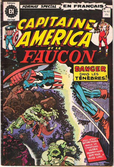 Cover for Capitaine America (Editions Héritage, 1970 series) #62