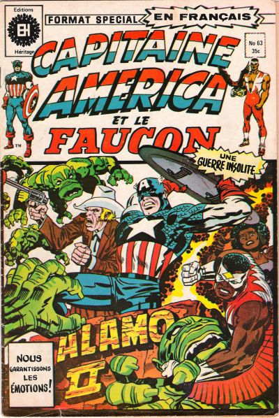 Cover for Capitaine America (Editions Héritage, 1970 series) #63