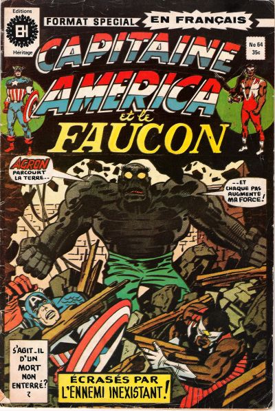 Cover for Capitaine America (Editions Héritage, 1970 series) #64