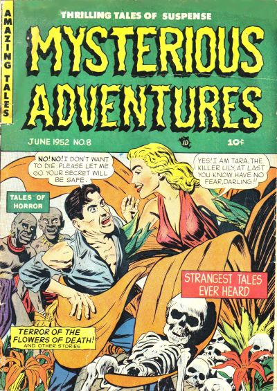 Cover for Mysterious Adventures (Story Comics, 1951 series) #8