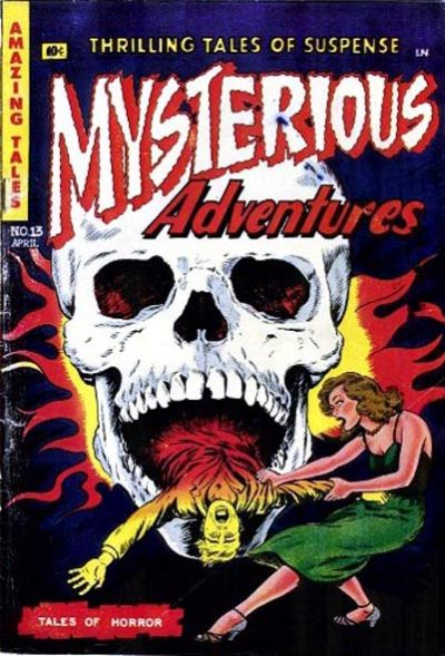 Cover for Mysterious Adventures (Story Comics, 1951 series) #13