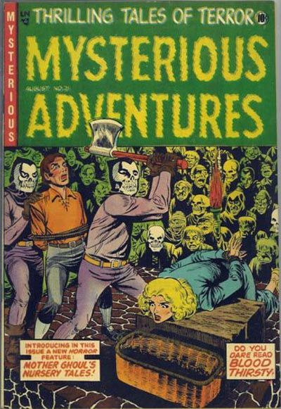 Cover for Mysterious Adventures (Story Comics, 1951 series) #21