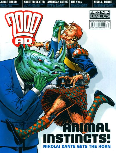 Cover for 2000 AD (Rebellion, 2001 series) #1434