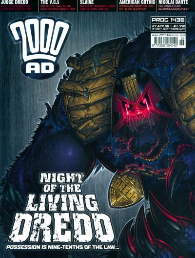 Cover for 2000 AD (Rebellion, 2001 series) #1436
