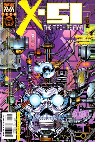 Cover for X-51 (Marvel, 1999 series) #9 [Newsstand]